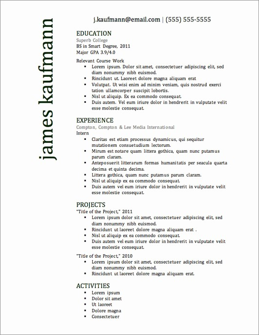 Free Resume Templates and Downloads Lovely 12 Resume Templates for Microsoft Word Free Download