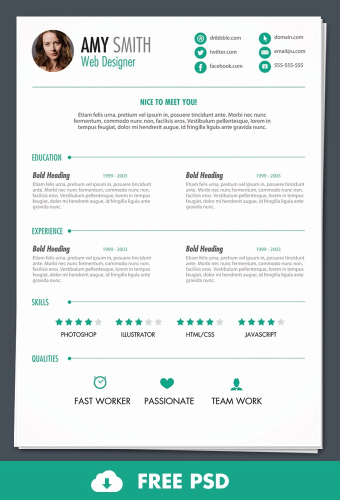 Free Resume Templates and Downloads Lovely Cv Templates Psd Free Resume Examples Cv Templates