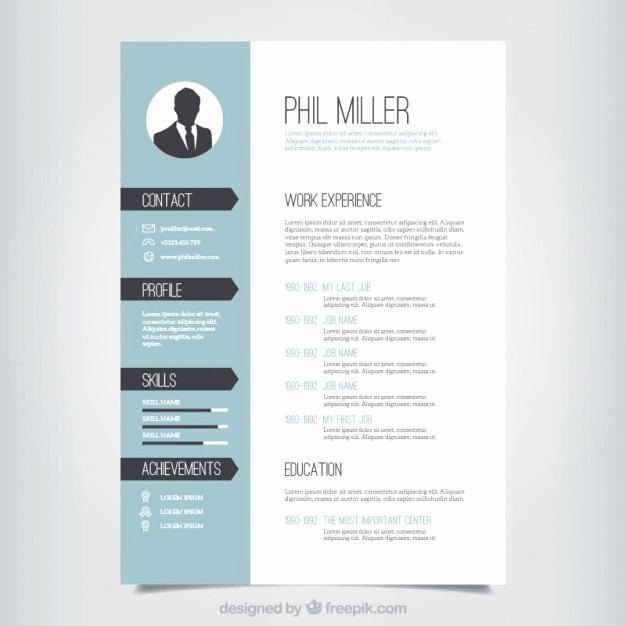 Free Resume Templates and Downloads Lovely Elegant Resume Template Vector