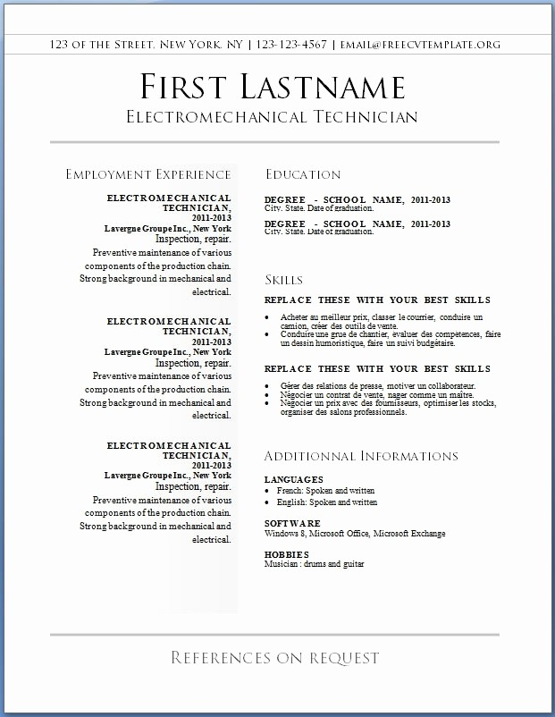 Free Resume Templates and Downloads Luxury Free Resume Template Downloads Beepmunk