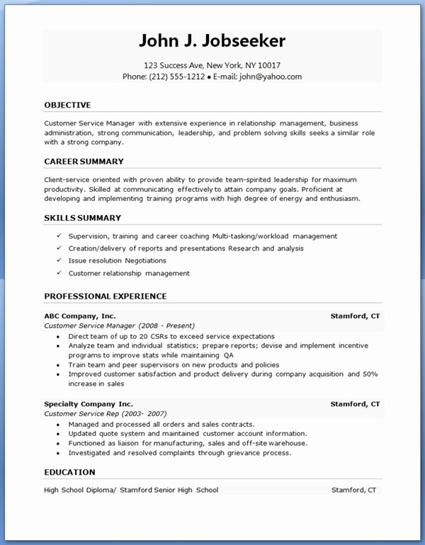 Free Resume Templates and Downloads New Free Resume Samples Download