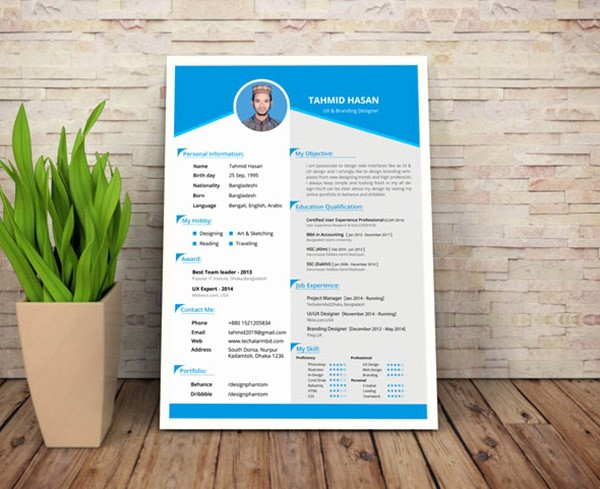 Free Resume Templates and Downloads Unique 50 Beautiful Free Resume Cv Templates In Ai Indesign