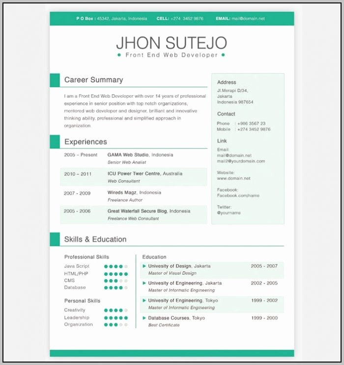 Free Resume Templates Download Pdf Awesome Creative Excel Templates Template Resume Examples