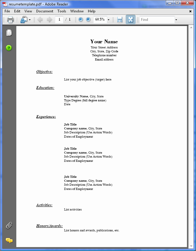 Free Resume Templates Download Pdf Awesome Pdf to Word Conversion Samples Easyconverter Sdk