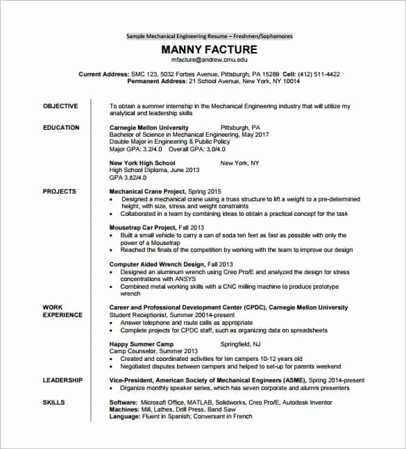 Free Resume Templates Download Pdf Elegant 14 Resume Templates for Freshers Pdf Doc