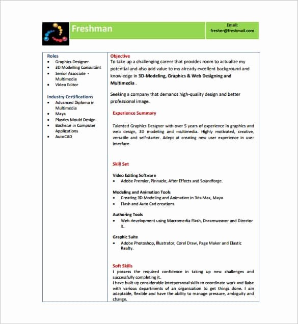 Free Resume Templates Download Pdf Lovely 14 Resume Templates for Freshers Pdf Doc