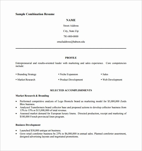Free Resume Templates Download Pdf Lovely Bination Resume Template 9 Free Word Excel Pdf