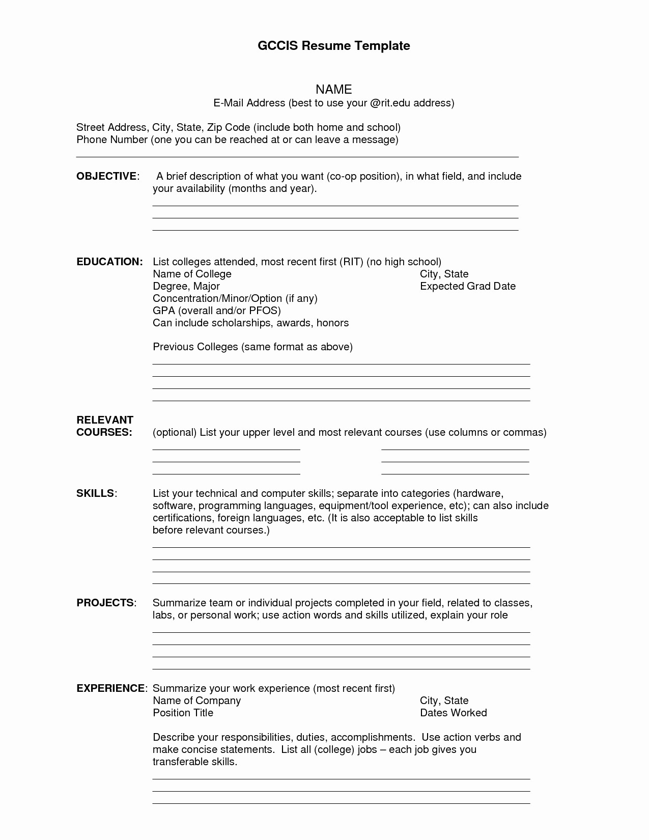 Free Resume Templates Download Pdf Luxury Resumes Free Download Pdf format Reference Blank Resume