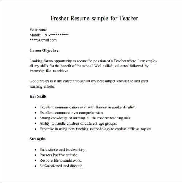 Free Resume Templates Download Pdf New 14 Resume Templates for Freshers Pdf Doc