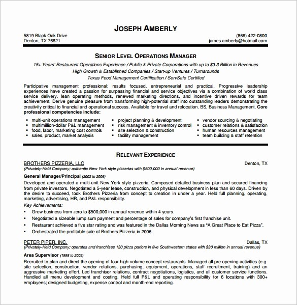 Free Resume Templates Download Pdf New 15 Manager Resume Templates Doc Pdf