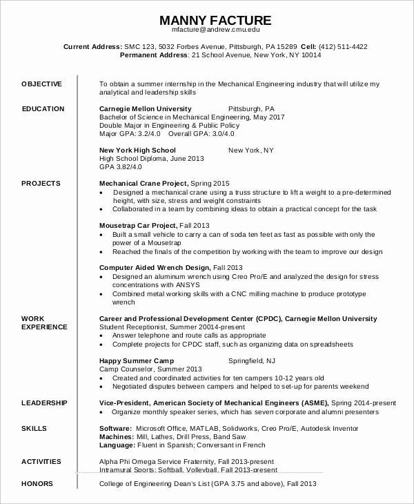Free Resume Templates Download Pdf Unique First Job Resume 7 Free Word Pdf Documents Download