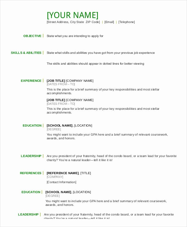 Free Resume Templates Download Pdf Unique Resume In Word Template 24 Free Word Pdf Documents
