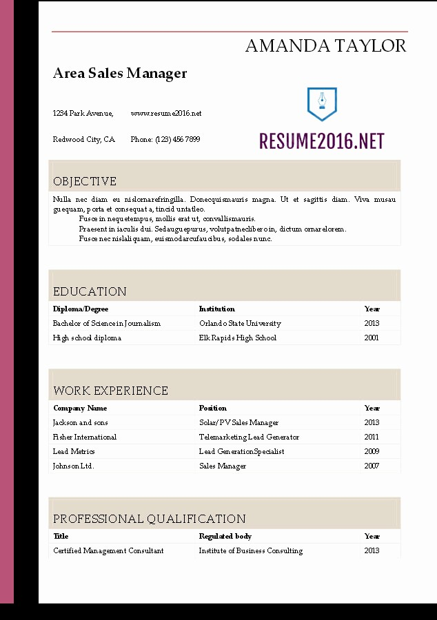 Free Resume Templates Download Word Inspirational Resume 2016 Download Resume Templates In Word