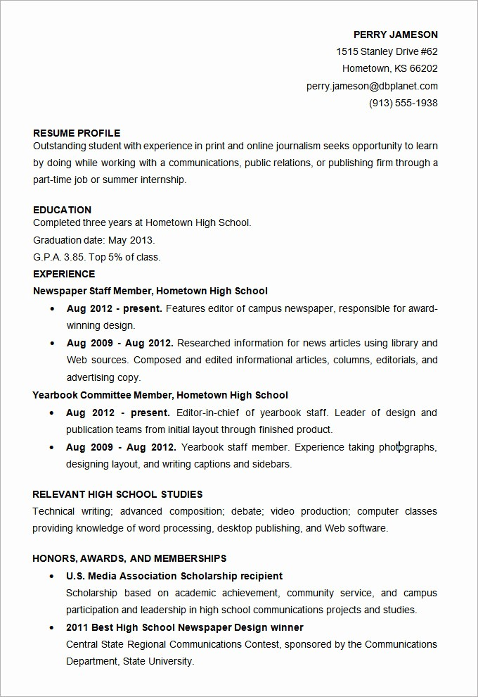 Free Resume Templates for Students Awesome Microsoft Word Resume Template 49 Free Samples