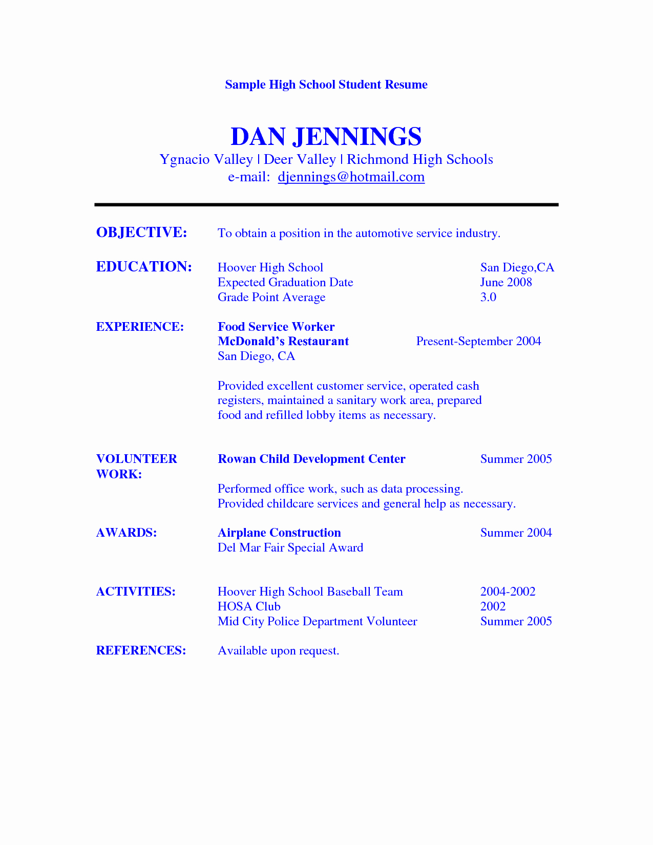 Free Resume Templates for Students Beautiful Pin Oleh Jobresume Di Resume Career Termplate Free