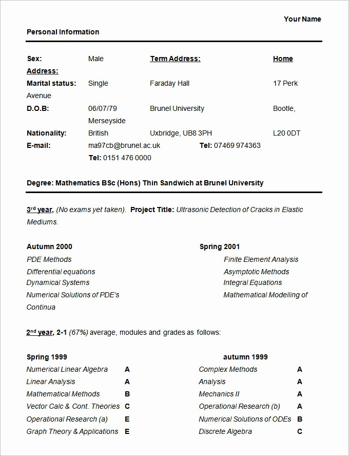 Free Resume Templates for Students Best Of 36 Student Resume Templates Pdf Doc