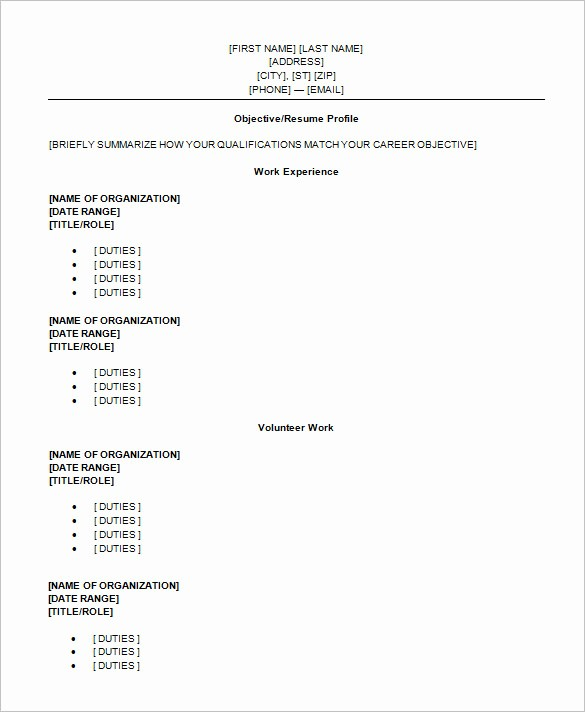 Free Resume Templates for Students Best Of High School Student Resume Templates
