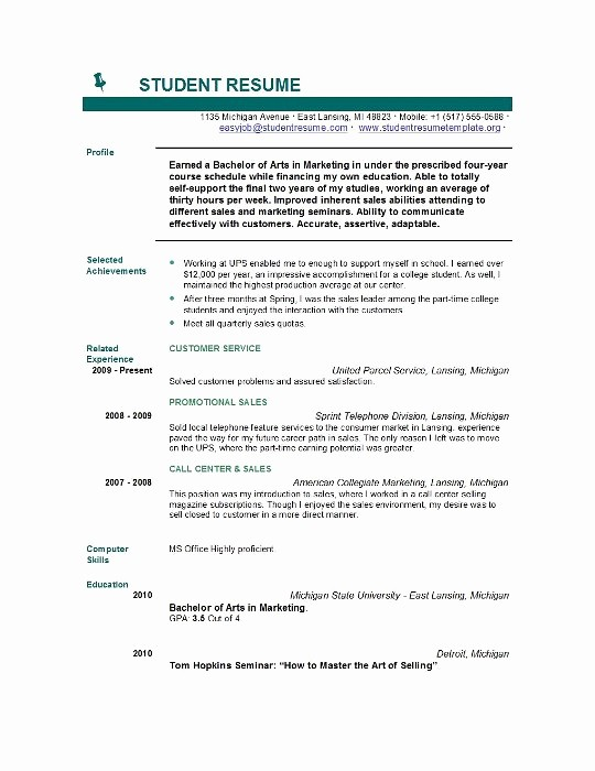 Free Resume Templates for Students Best Of Student Resume Templates Student Resume Template