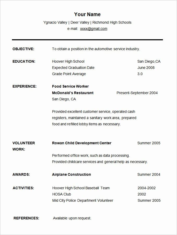 Free Resume Templates for Students Elegant 36 Student Resume Templates Pdf Doc