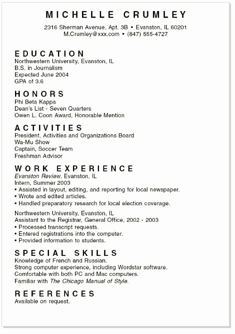 Free Resume Templates for Students Inspirational Sample Resume for High School Senior Best Resume Collection