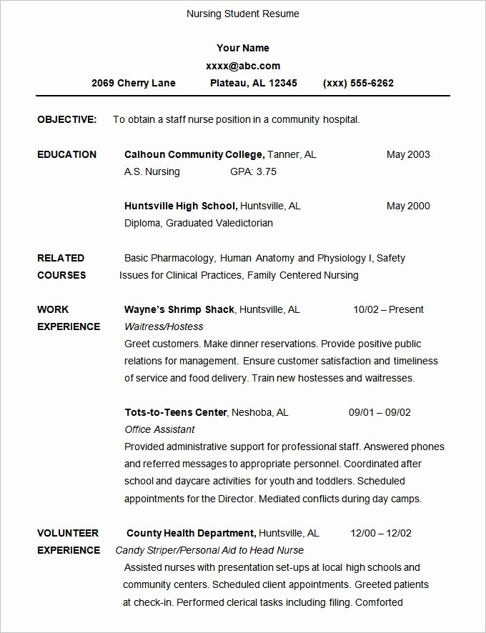 Free Resume Templates for Students New 36 Student Resume Templates Pdf Doc