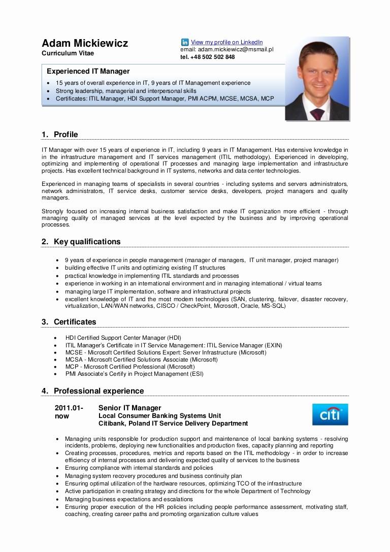 Free Resume Templates In English Awesome Adam Mickiewicz Cv English Version