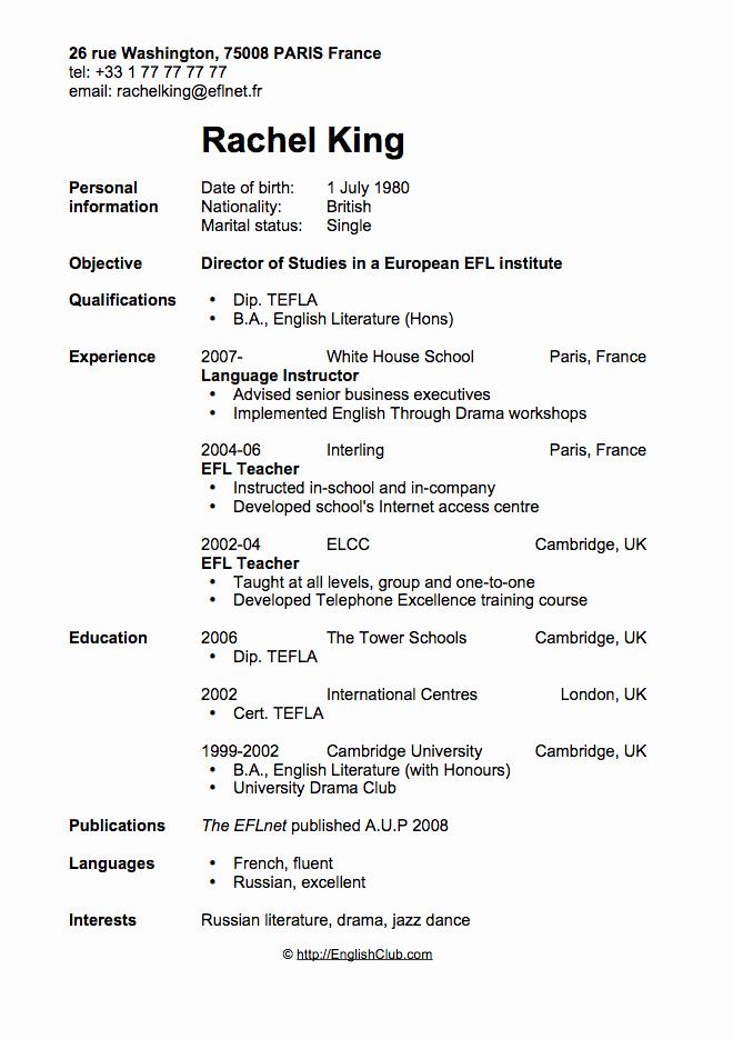 Free Resume Templates In English Beautiful Cv Resume Director Of Stu S English