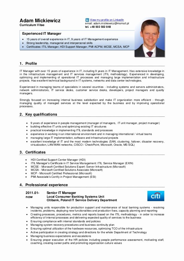 Free Resume Templates In English Best Of Adam Mickiewicz Cv English Version