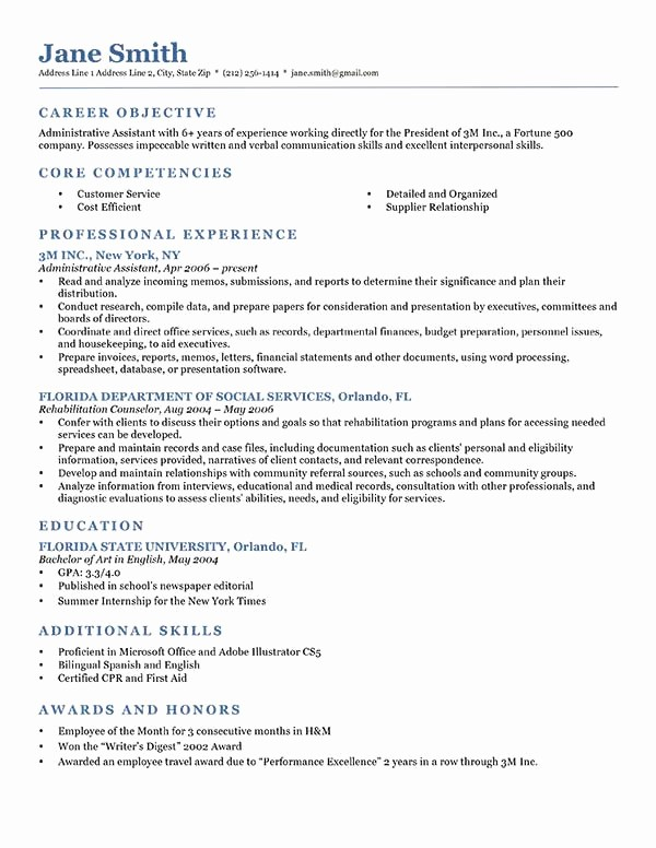 Free Resume Templates In English Fresh 80 Free Professional Resume Examples by Industry