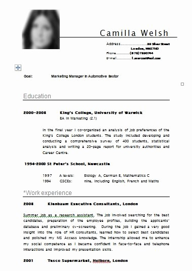 Free Resume Templates In English Inspirational E Mail Notes Free Resume Template Samples Cv Example