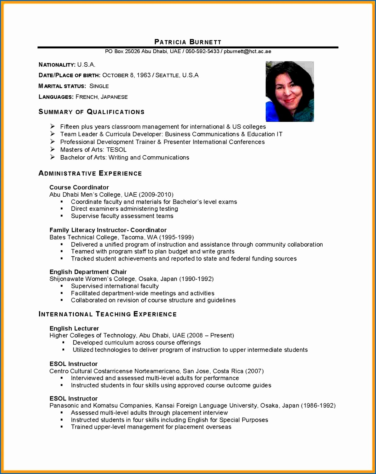 Free Resume Templates In English Lovely 18 Cv English Student