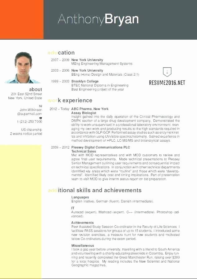 Free Resume Templates In English Lovely Cover Letter Best Marketing Resume Examples Sales and
