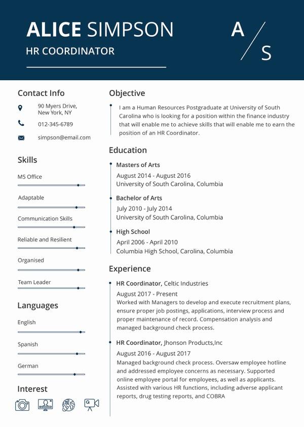 Free Resumes Download Word format Inspirational Hr Resume format Template 9 Free Word Pdf format