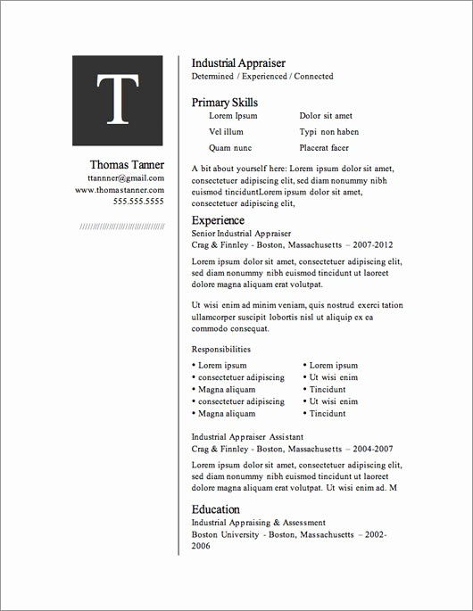 Free Resumes Download Word format Lovely 12 Resume Templates for Microsoft Word Free Download