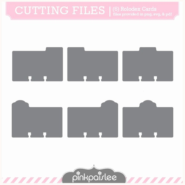 Free Rolodex Template Microsoft Word Fresh Rolodex Cards Svg Cutting File Silhouette