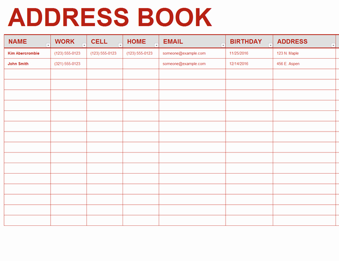 Free Rolodex Template Microsoft Word Lovely Personal Address Book