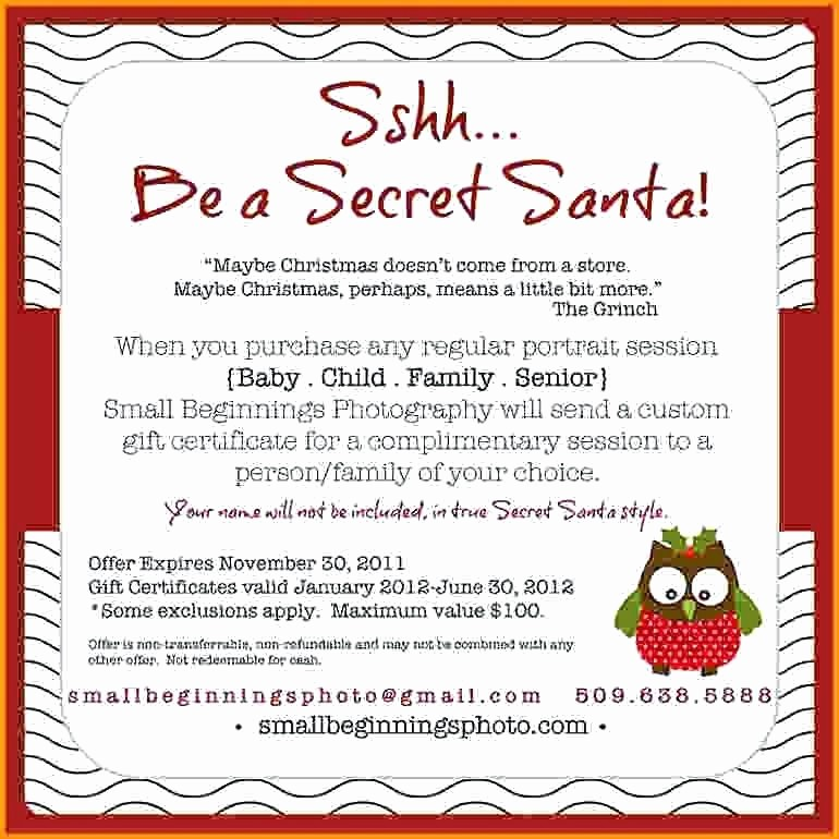 Free Secret Santa Flyer Templates Beautiful A Secret Questionnaire Santa Party Flyer Template Free