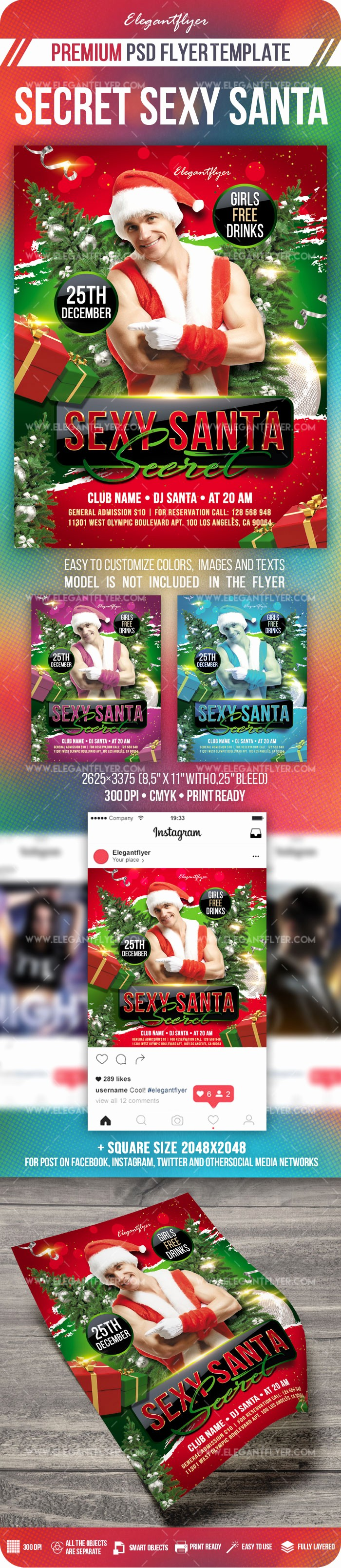 Free Secret Santa Flyer Templates Best Of Secret Y Santa – Flyer Psd Template Instagram