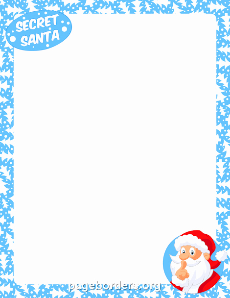 Free Secret Santa Flyer Templates Fresh Secret Santa Border Clip Art Page Border and Vector