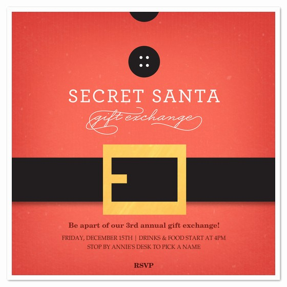 Free Secret Santa Flyer Templates Inspirational Secret Santa Belt Invitations & Cards On Pingg