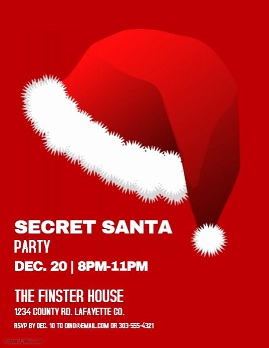 Free Secret Santa Flyer Templates Lovely Secret Santa Template for the Office Christmas Pinterest