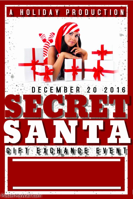 Free Secret Santa Flyer Templates New Christmas Flyer Template