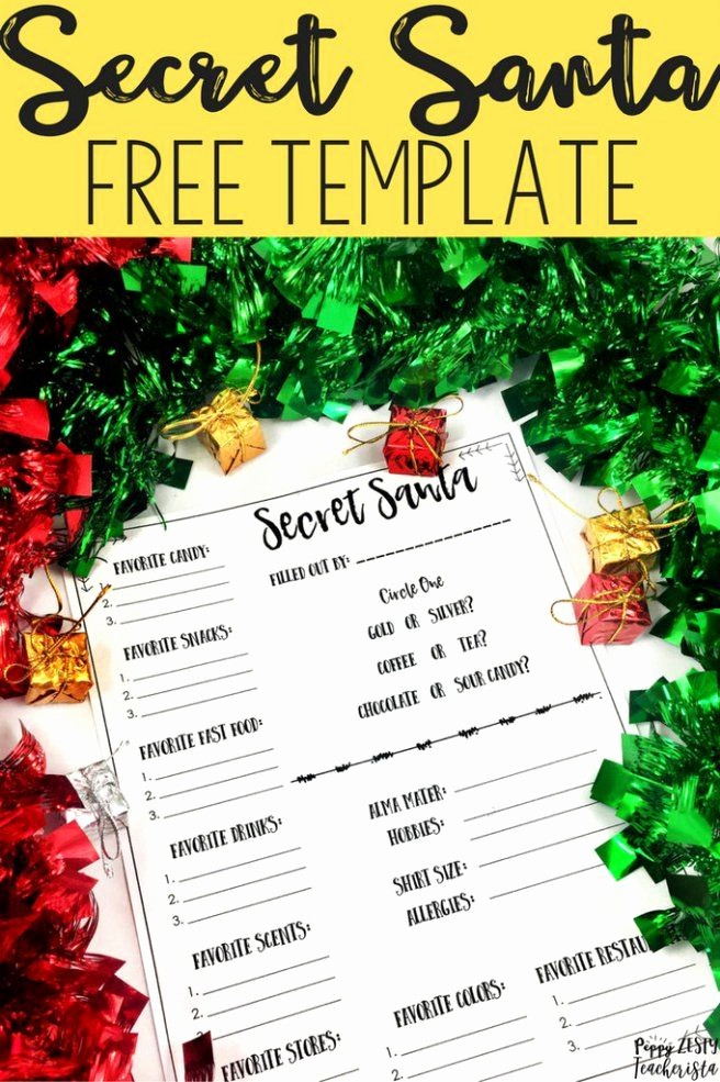 Free Secret Santa Flyer Templates Unique 25 Best Ideas About Secret Santa On Pinterest