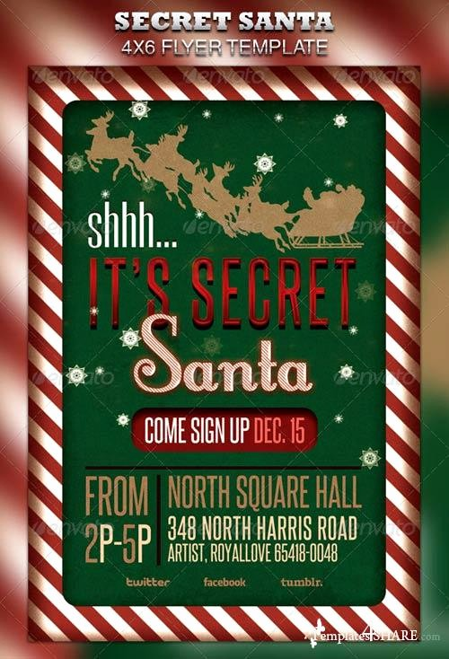 Free Secret Santa Flyer Templates Unique Graphicriver Secret Santa Flyer & Raffle Ticket