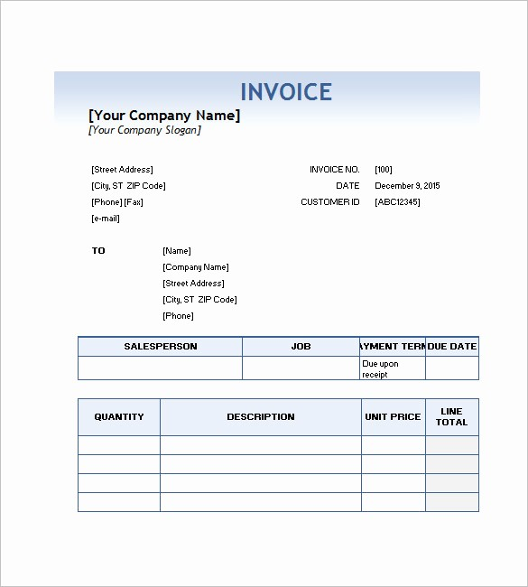 Free Service Invoice Template Download Best Of Service Invoice Templates – 11 Free Word Excel Pdf