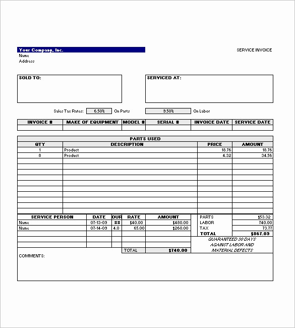 Free Service Invoice Template Download Elegant Service Invoice Templates – 11 Free Word Excel Pdf