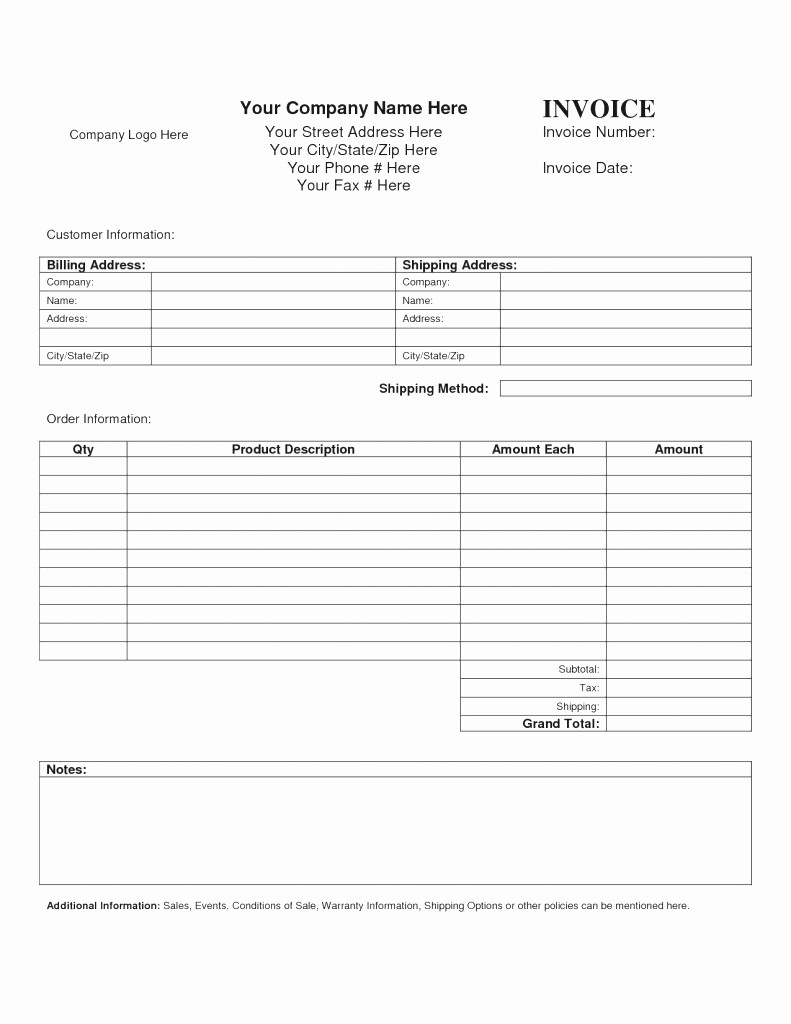 Free Service Invoice Template Download New Blank Service Invoice Mughals
