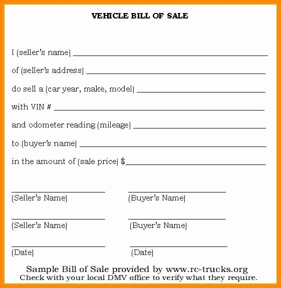 Free Simple Bill Of Sale Unique Bill Sale Templates for Car Sample form Template Vehicle