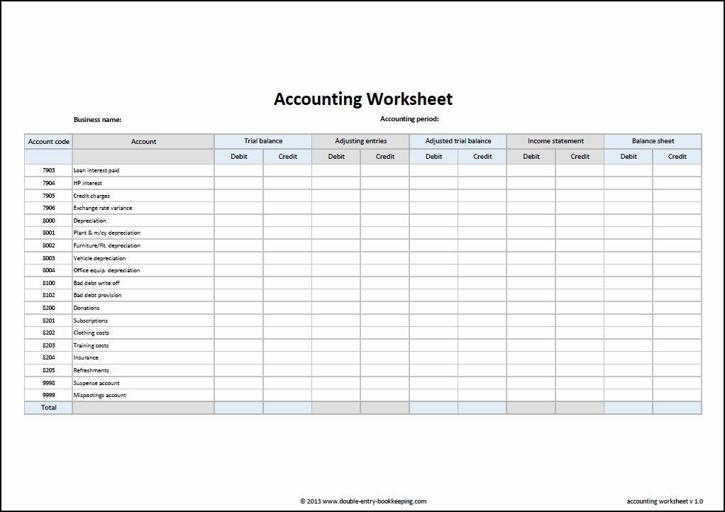 Free Small Business Ledger Template Awesome Accounting Worksheet Template Accounting