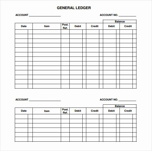 Free Small Business Ledger Template Luxury 7 Sample General Ledger Templates